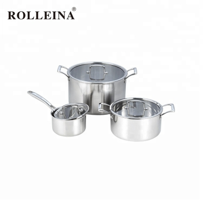 Professional Level Triply Clad Stainless Steel Culinary Cookware Set