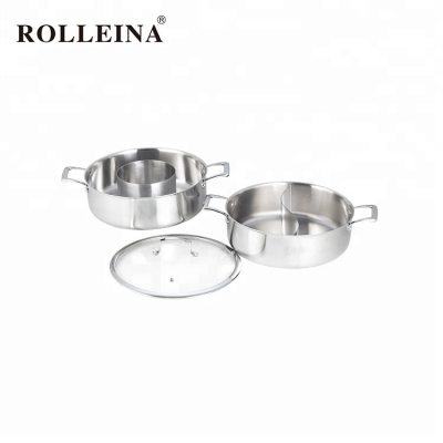 Space Saving Triply Stainless Steel Hot Pot Cookware Set