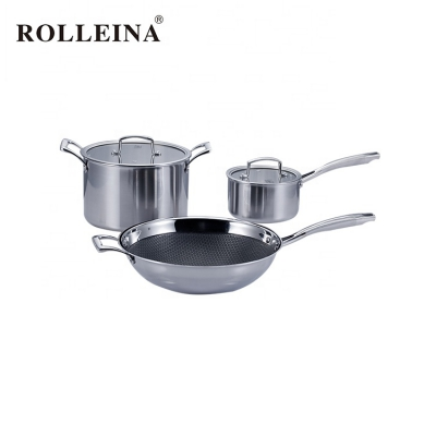 Hot Sale Professional Level Tri-ply Stainless Steel Culinary Pot Cookware Set