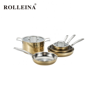 Durability Dishwasher Safe Tri-ply Stainless Steel Cooking Pot Cookware Set