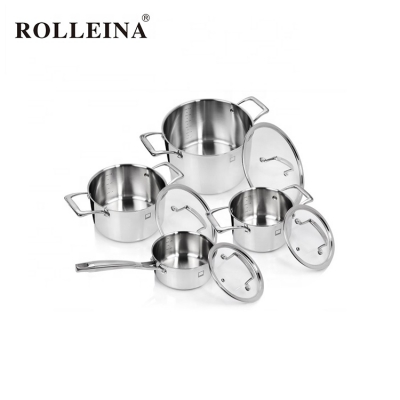 Hot Sale Casserole And Cooking Pot Tri-ply Stainless Steel Cookware Set