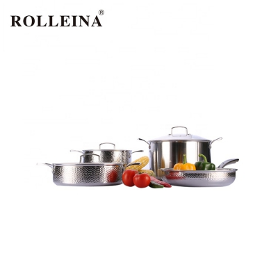 New Products 4pcs Stainless Steel Cookware Cooking Pot And Pan Set