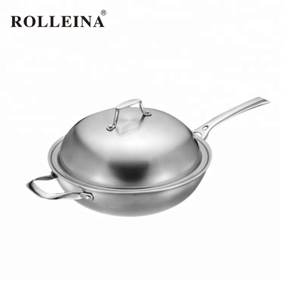 Premium Quality Non-Stick Tri Ply Stainless Steel Cooking Pot Wok
