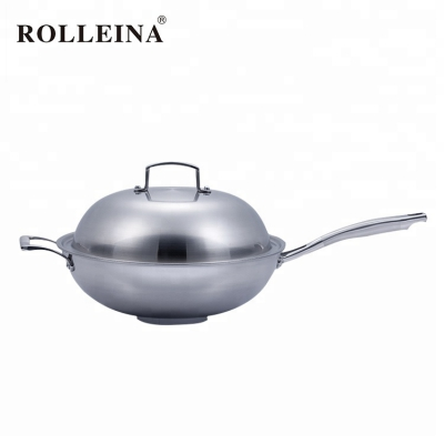 Premium Quality Non Stick Tri-ply Stainless Steel Induction Wok