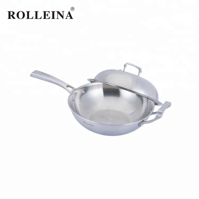 Professional Manufacturer Multifunctional 3 Ply Stainless Steel Wok