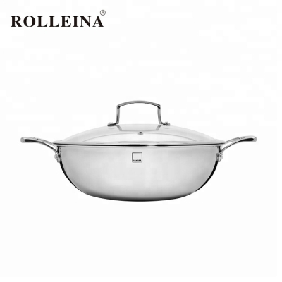 New product cooking pan tri-ply stainless steel big wok