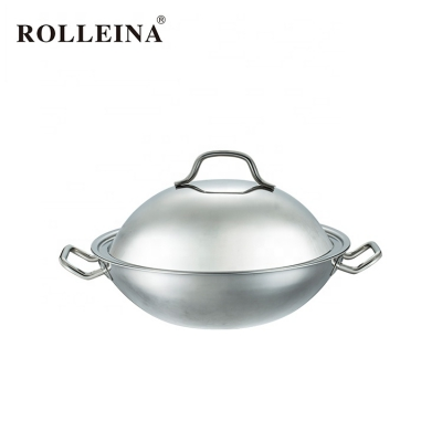 Custom Made Pear Shaped Tri-ply Clad Stainless Steel Wok