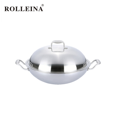Best selling non stick tri ply stainless steel wok