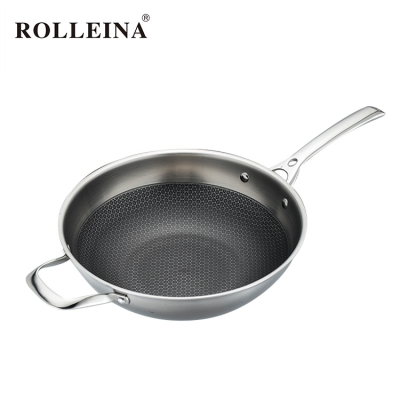 Top selling special non stick 3-ply stainless steel wok