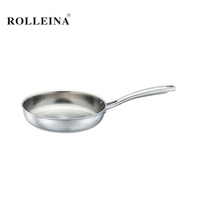 Premium Environmental Pot Restaurant 3 Ply Stainless Steel Home Cooking Fry Pan