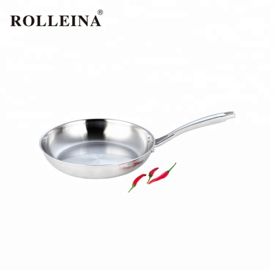2019 Latest Heats Quickly Induction Bottom 3 Ply Stainless Steel Frying Pan