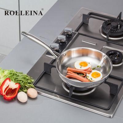 Best Selling Environmental 3 Ply Stainless Steel Kitchen Cook Steak Fry Pan
