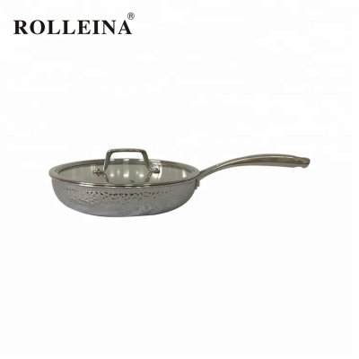 High Quality Home Use Cookware Tri Ply Stainless Steel Frying Pan