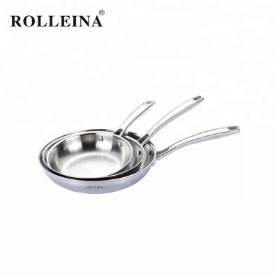 High quality Kitchenware Tri-ply Stainless Steel Frying Pan For Sale