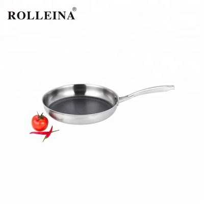 Customized dishwasher safe durable skillet tri ply stainless steel frying pan