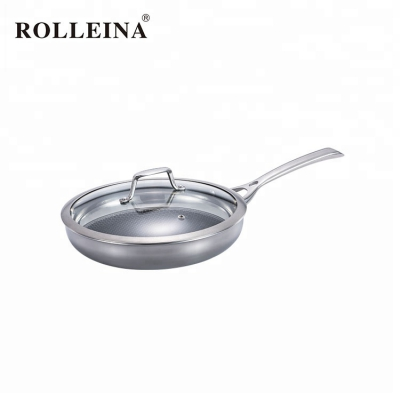 High quality tri ply stainless steel non stick frypan
