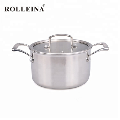 Best selling tri-ply clad stainless steel cookware casseroles