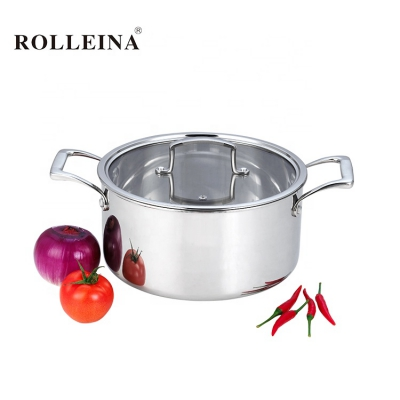 New product food warmer kitchen cooking pot tri-ply stainless steel casserole