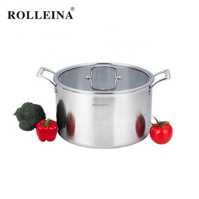 Factory Supply Kitchen Cooking Pot Tri Ply Stainless Steel Stew/ Stock Pot
