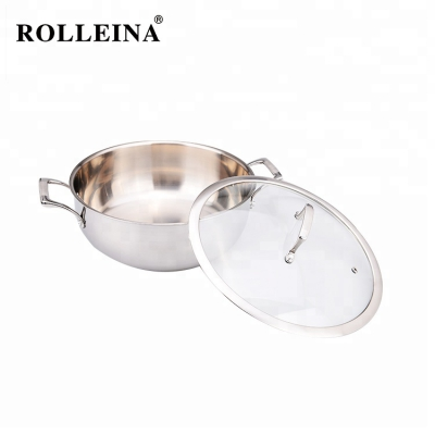 Customized Energy Saving Tri-ply Clad Stainless Steel Hot Pot/ Casserole
