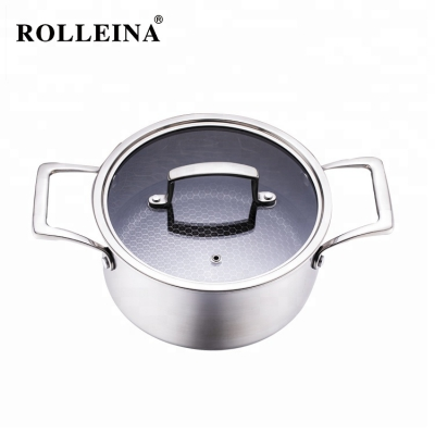 Wholesale Tri-ply Clad Stainless Steel Non Stick Hot Pot/ Casserole