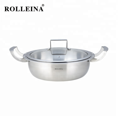Best Selling Easy To Clean Tri-ply Clad Stainless Steel Cookware Hot Pot