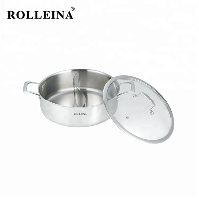 Various Styles Induction Cookware Tri-ply Clad Stainless Steel Chinese Hot Pot