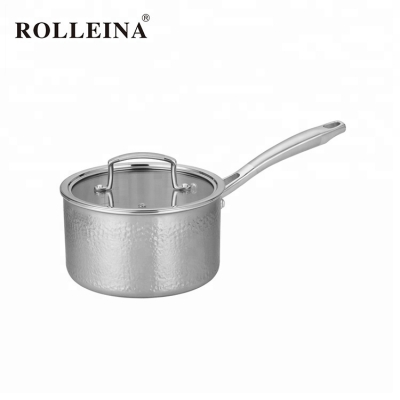 Home Cooking Durable Stainless Steel Induction Cookware Sauce Pan With Cover