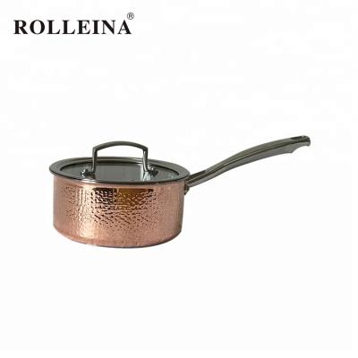 High class tri-ply clad copper cooking pot/ milk pan/ saucepan