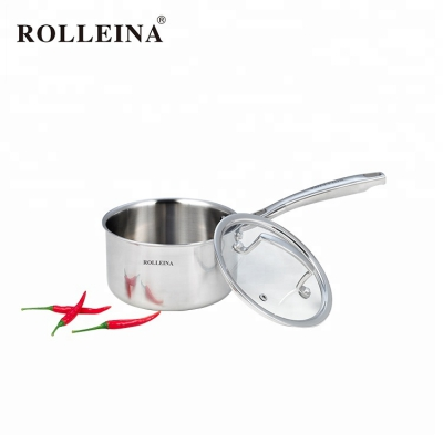 New Design Kitchen 3 Ply Stainless Steel Sauce Pan With Cover