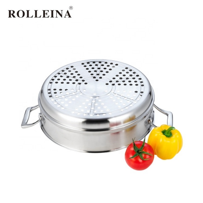 Multi-use Tri Ply Stainless Steel 3 Layers Cooking Pot Chinese Steamer