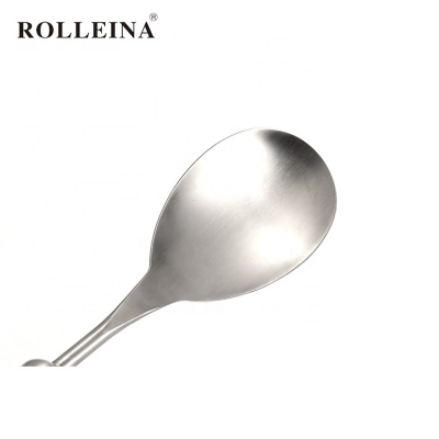 Factory supply kitchen tools stainless steel kitchenware rice spoon