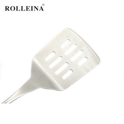 Factory Direct Sell Kitchen Accessories Stainless Steel Cooking Tools Spatula Slotted Turner